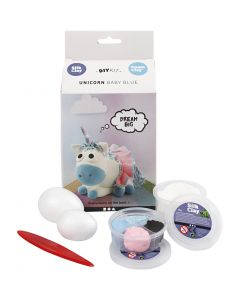Funny Friends, unicorn, blauw, 1 set