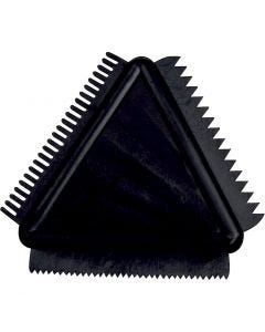 Structuurkam van rubber, afm 9 cm, 1 stuk