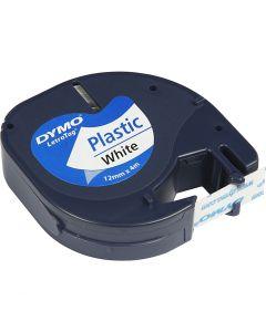 Plastic Tape, L: 4 m, B: 12 mm, wit, 4 m/ 1 rol