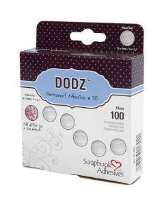 Dodz Zelfklevende Dots, d: 12 mm, dikte 2 mm, 100 stuk/ 1 doos
