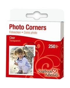 Foto hoeken, B: 10 mm, helder, 250 stuk/ 1 doos