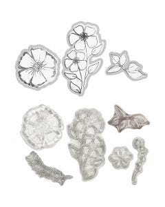 Stempels en snijmallen, bloemen, 1 stuk