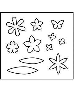 Snijmal, bloemen, afm 14x15,25 cm, dikte 15 mm, 1 stuk