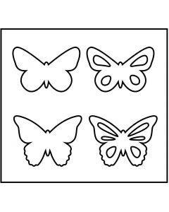 Snijmal, vlinder, afm 14x15,25 cm, dikte 15 mm, 1 stuk