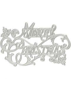 Stans- en embossing mallen, Merry Christmas, d: 11,5x7,2 cm, 1 stuk