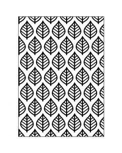 Embossing Folder , bladeren, afm 13x18,5 cm, dikte 2 mm, 1 stuk