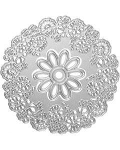 Stans- en embossing mallen, bloemen, d: 10,5 cm, 1 stuk