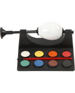 Eieren schilderen, L: 16,5 cm, zwart, 1 set