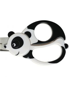 Kinderschaar met dierenmotief, Panda, L: 13 cm, 1 stuk