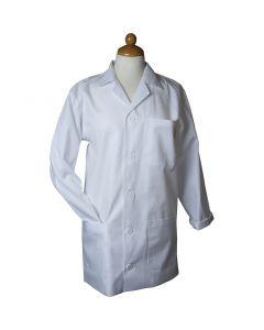 Stofjas, L: 78 cm, afm small , Mouwlengte 58 cm , wit, 1 stuk