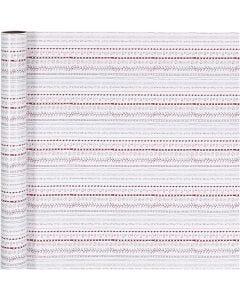 Inpakpapier, doodles, B: 70 cm, 80 gr, rood, wit, 4 m/ 1 rol