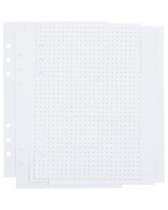 Planner / Bulletjournal pagina's, stippen, afm 142x210 mm, 36 , 120 gr, wit, 1 stuk/ 1 doos