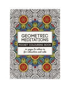 Kleurboek, Geometric, afm 10,5x14,5 cm, 20 , 1 stuk
