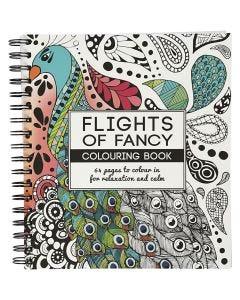 Kleurboek, Flights of Fancy, afm 19,5x23 cm, 64 , 1 stuk