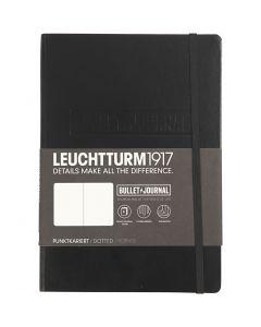 Bullet Journaling Notebook , A5, dikte 2 cm, 240 , zwart, 1 stuk