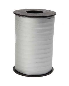 Cadeaulint, B: 10 mm, matt, zilver, 250 m/ 1 rol