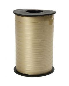Cadeaulint, B: 10 mm, matt, goud, 250 m/ 1 rol