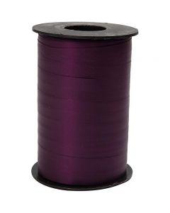 Cadeaulint, B: 10 mm, matt, paars, 250 m/ 1 rol