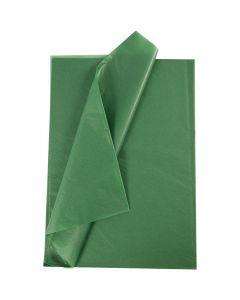 Tissuepapier, 50x70 cm, 14 gr, groen, 10 vel/ 1 doos