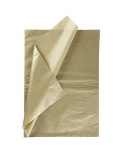Tissuepapier, 50x70 cm, 14 gr, goud, 6 vel/ 1 doos