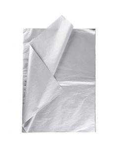 Tissuepapier, 50x70 cm, 14 gr, zilver, 6 vel/ 1 doos