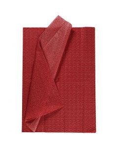 Tissuepapier, 50x70 cm, 17 gr, rood, 6 vel/ 1 doos