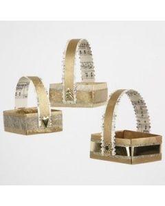 Manden gemaakt van goud papier