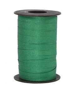 Cadeaulint, B: 10 mm, glitter, groen, 100 m/ 1 rol