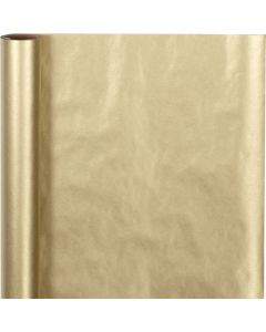 Cadeaupapier, B: 50 cm, 60 gr, goud, 5 m/ 1 rol