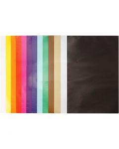 Glanspapier, 24x32 cm, 80 gr, diverse kleuren, 50 vel/ 1 doos