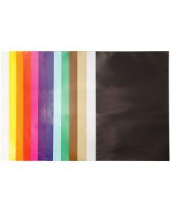 Glanspapier, 32x48 cm, 80 gr, diverse kleuren, 100 vel/ 1 doos