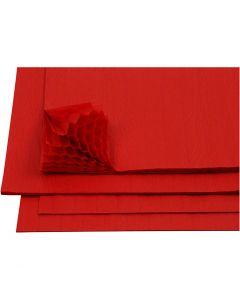 Harmonica papier, 28x17,8 cm, rood, 8 vel/ 1 doos