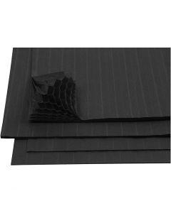 Harmonica papier, 28x17,8 cm, zwart, 8 vel/ 1 doos