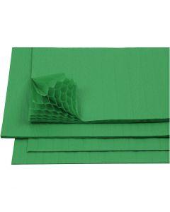 Harmonica papier, 28x17,8 cm, groen, 8 vel/ 1 doos