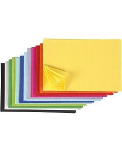 Honingraat papier, 28x17,8 cm, diverse kleuren, 72 stuk/ 1 doos