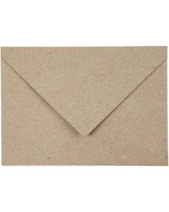 Gerecyclede Enveloppen, afmeting envelop 11,5x16 cm, 120 gr, beige, 50 stuk/ 1 doos
