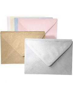 Gekleurde enveloppen, diverse kleuren, 120 stuk/ 1 doos