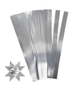 Vlechtstroken, L: 45 cm, d: 4,5 cm, B: 10 mm, zilver, 100 stroken/ 1 doos