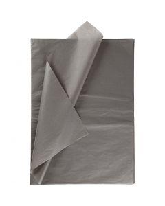 Tissuepapier, 50x70 cm, 14 gr, donkergrijs, 25 vel/ 1 doos