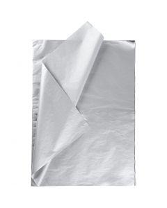 Tissuepapier, 50x70 cm, 14 gr, zilver, 25 vel/ 1 doos