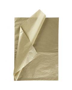 Tissuepapier, 50x70 cm, 14 gr, goud, 25 vel/ 1 doos