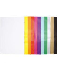 Glanspapier, 32x48 cm, 80 gr, diverse kleuren, 11x25 vel/ 1 doos