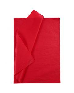 Tissuepapier, 50x70 cm, 14 gr, rood, 25 vel/ 1 doos