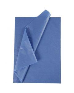 Tissuepapier, 50x70 cm, 14 gr, blauw, 25 vel/ 1 doos