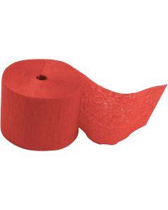 Crepepapier rollen, L: 20 m, B: 5 cm, rood, 20 rol/ 1 doos