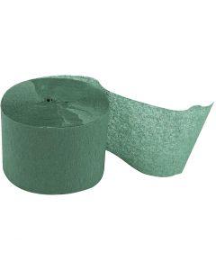 Crepepapier rollen, L: 20 m, B: 5 cm, groen, 20 rol/ 1 doos
