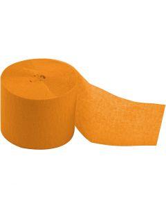 Crepepapier rollen, L: 20 m, B: 5 cm, geel, 20 rol/ 1 doos