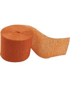 Crepepapier rollen, L: 20 m, B: 5 cm, oranje, 20 rol/ 1 doos
