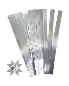 Vlechtstroken, L: 45 cm, d: 6,5 cm, B: 15 mm, zilver, 100 stroken/ 1 doos
