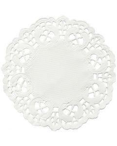 Cake servetten, rond, d: 11 cm, 30 stuk/ 1 doos